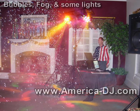 Bubble Machine, Fog Machine, some lights - part of our birthday party package special -image